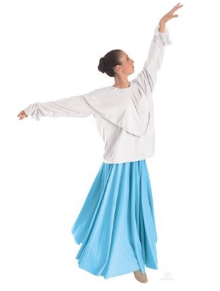 eurotard 13736 shawl collared blouse