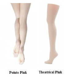 capezio 19 professional mesh transition tights adult color swatch