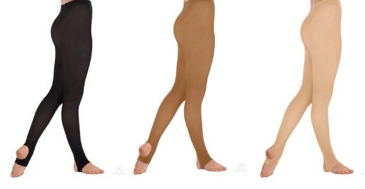 eurotard 217 adult stirrup tights color swatch