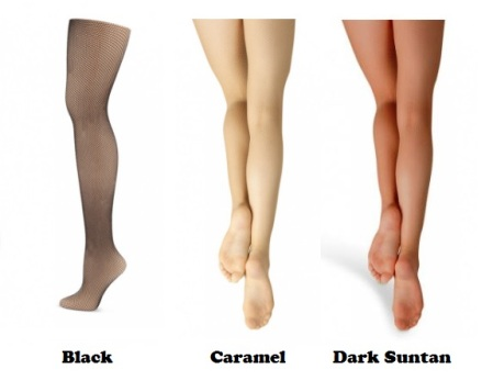 capezio 3407 adult studio basics fishnet tights color swatch