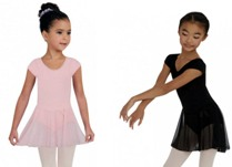 capezio 3966c childrens short sleeve nylon dress color swatch