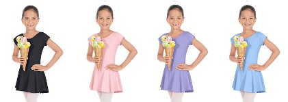 eurotard 44285c child bow back dress color swatch