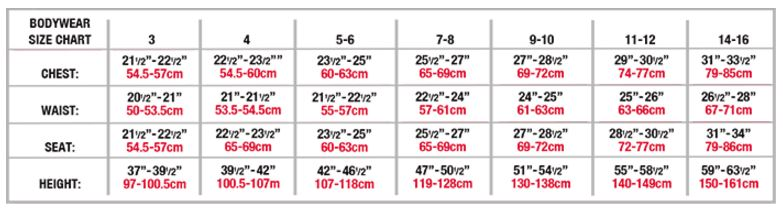 body wrappers b191 boys jazz pant sizing chart