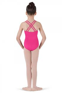 cl1637 girls double cross back leotard