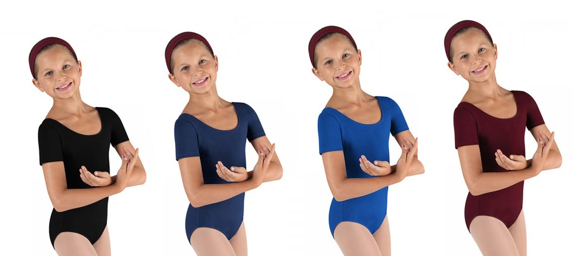 bloch cl5402 childrens short sleeve leotard color swatch 1