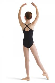 bloch cl8720 nylon adjustable strap leotard