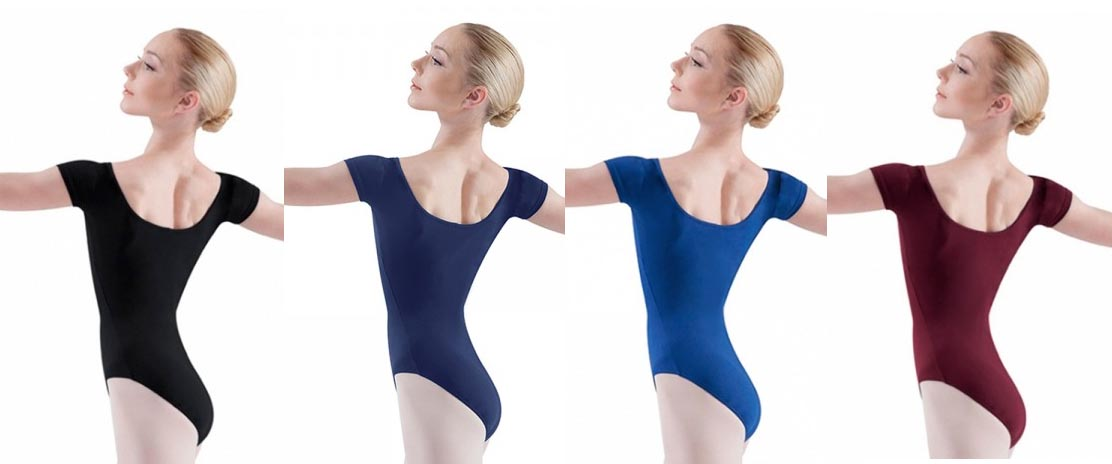 bloch l5402 short sleeve leotard color swatch 1