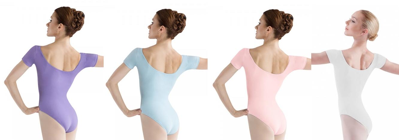 bloch l5402 short sleeve leotard color swatch 2