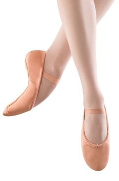 capezio 207 gracie leather full sole ballet slippers