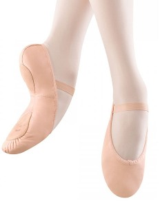 bloch s0258l ladies leather split sole ballet shoes