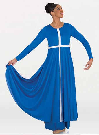 body wrappers 645 cross praise dress