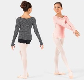 body wrappers 3392 child v-neck long sleeve sweater color swatch