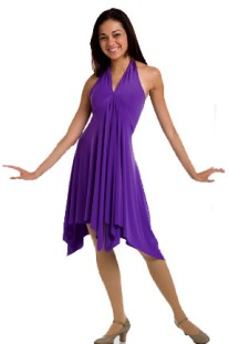 body wrappers 7825 modern movement convertible dress/skirt