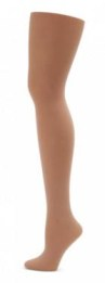 capezio 1825 studio basic footed tight front back