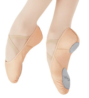 capezio 2027 juliet split sole leather ballet shoe