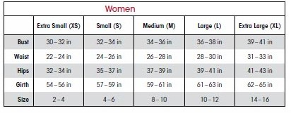 capezio mc150 camisole dress sizing chart
