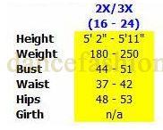 eurotard 63565 joyful praise tunic plus sizing chart