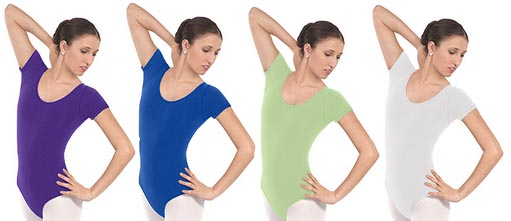 eurotard 10475 adult cotton classic short sleeve leotard color swatch 2