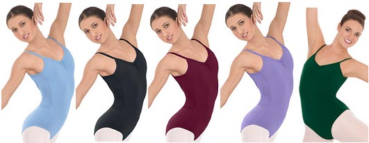 eurotard 10527 adult cotton classic camisole leotard color swatch 1