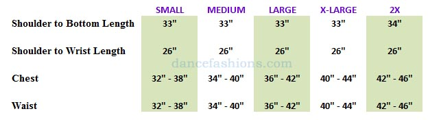 eurotard 13830 men and boys faith praise top mens sizing chart