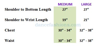 eurotard 13830 men and boys faith praise top boys sizing chart