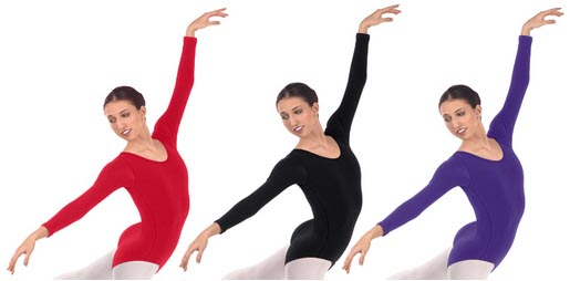 eurotard 44265p plus size long sleeve microfiber leotard color swatch 2