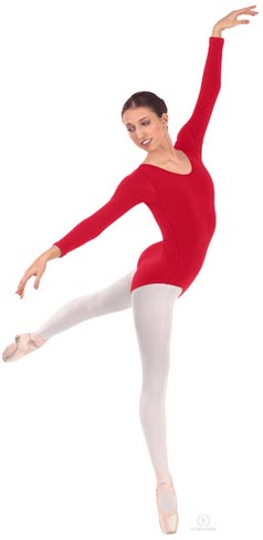 eurotard 44265p plus size long sleeve microfiber leotard