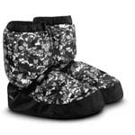 im009 booties floral black & white