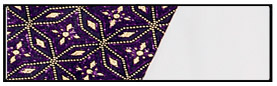 eurotard 13855 royalty dance dress white purple swatch