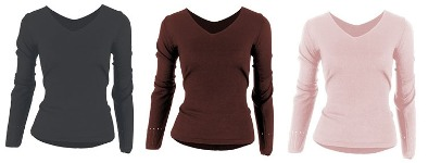 bloch v-neck sweater colors