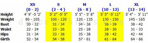 eurotard 44475 adult microfiber short sleeve leotard sizing chart