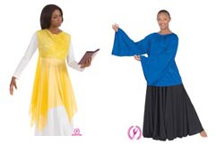 Eurotard Worship - Praise - Liturgical Dancewear - Tops - Blouses - Overlays & Tunics