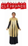 Eurotard 14808C Children Metallic Gold Streamer Skirt or Overlay - CLEARANCE