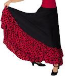 Eurotard 08804 Flamenco Skirt w/ Dotted Ruffle