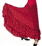 Eurotard 08783 Dotted Flamenco Skirt