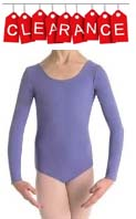 Danskin 9191 Child Nylon Scoop Neck Leotard with Long Sleeves - CLEARANCE