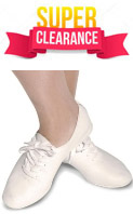 Bloch S0404 Bloch Jazzflex:  Full Sole White Jazz Shoe - Clearance