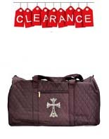 praise dance duffel bag with rhinestone cross applique - clearance