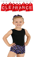 discount dance wear - eurotard 22535C child leopard print booty shorts with metallic foil highlights