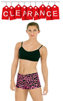 discount dance wear - eurotard 22535 adult leopard print booty shorts with metallic foil highlights