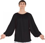eurotard 13673 mens long sleeve peasant style blouse