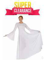 eurotard 13814 glory dress polyester princess seam dress with bell sleeves