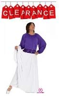 eurotard 13827 liturgical double circle skirt with attached pants
