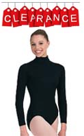 Capezio TB123 Turtleneck Long Sleeve Leotard with Zippered Back & Snapped Crotch - CLEARANCE