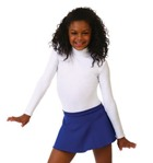 Capezio TB123C Children's Turtleneck Long Sleeve Leotard with Zippered Back & Snapped Crotch