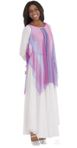 eurotard 13848 draped chiffon tunic with gathered neckline