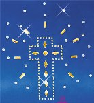 eurotard 11sh rhinestone shining cross applique