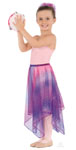 eurotard 13768c child chiffon single layered handkerchief metallic tutlle skirt or overlay