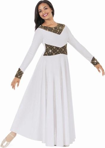 Eurotard 43866 Royalty Praise Dance Dress Clearanceliturical