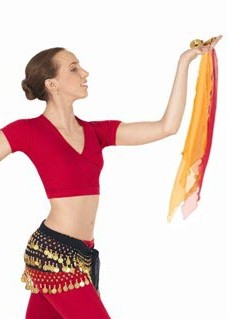Eurotard 13828 Chiffon Diamond Shaped Belly Dance Finger Scarf